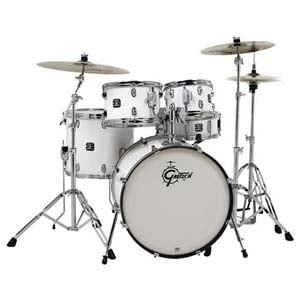 Gretsch Energy 5 Piece Drum Set With Zildjian Planet Z Cymbals White