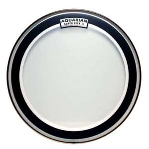 Aquarian Super Kick 2 Clear Bass Drum Head - 22 Inch