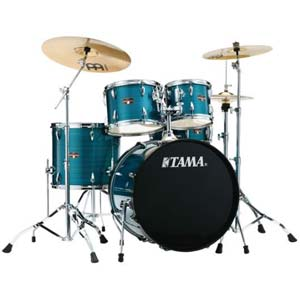 Tama Imperialstar 5Pc Accel Driver W/Meinl HCS Cymbals Hairline Blue