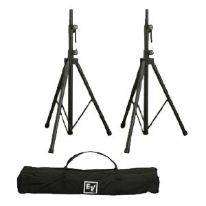 Electro Voice TSP 1 Aluminum Tripod Speaker Stand Pair With Carry Bag