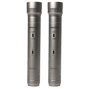 TASCAM TM-PC1-2 Matched Pair Pencil Condenser Microphone Set