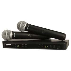 Shure BLX 288PG58 Dual Handheld Wireless Microphone System Band H10