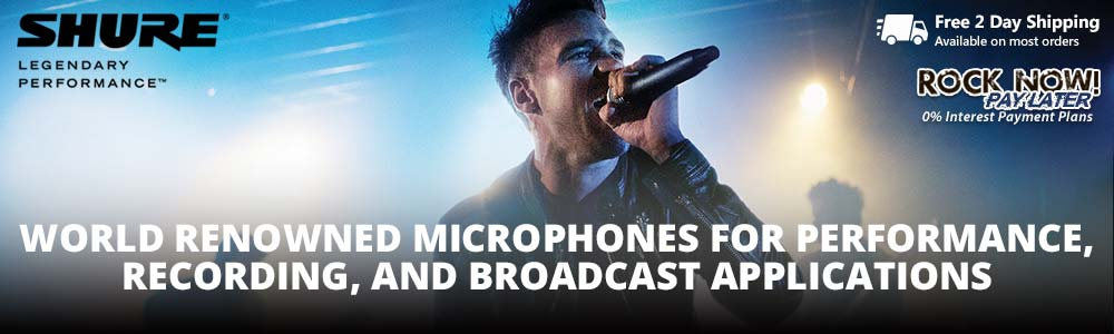 Shure - world renowned microphones for any application