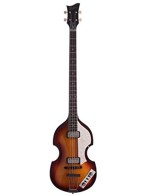Hofner HCT5001 Violin Electric Bass Guitar with Case Sunburst