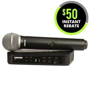 Shure BLX 24PG58 Handheld Wireless System with PG58