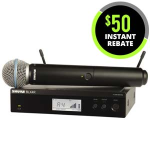 Shure BLX 24RB58 Handheld Wireless System with Beta 58A