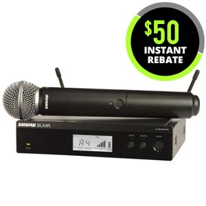 Shure BLX 24RSM58 Handheld Wireless System with SM58