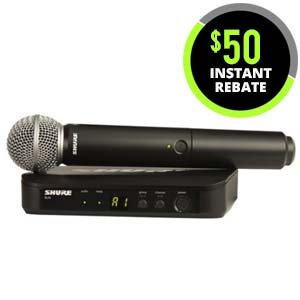Shure BLX 24SM58 Handheld Wireless System with SM58