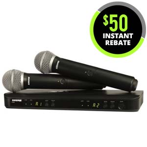 Shure BLX 288PG58 Dual Handheld Wireless System with PG58