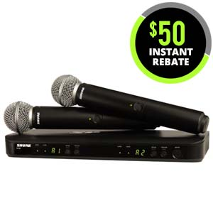 Shure BLX288SM58 Dual Handheld Wireless System with SM58