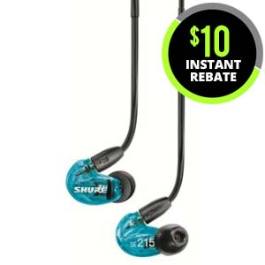 Shure SE215SPE Special Edition In Ear Monitor Headphone Blue