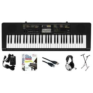 Casio CTK2400 61 Key Portable Keyboard Learn to Play Package
