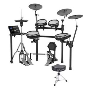 Roland TD25KV V-Tour Electronic Drum Set With RDT Drum Throne
