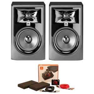 JBL 305P MKII 3 Series 5 Inch Powered Studio Monitor With Starer Pack