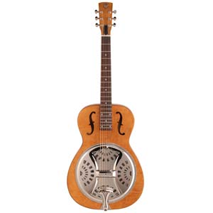 Dobro Hound Dog Round Neck Resonator Guitar Vintage Brown