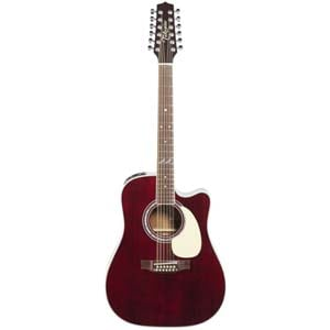 Takamine John Jorgenson 12 String Guitar Gloss Red Stain with Case