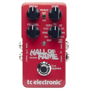 TC Electronic Hall of Fame TonePrint Reverb Guitar Pedal
