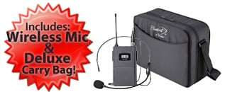 includes wireless mic
