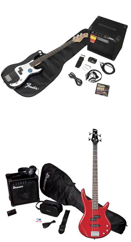 Electric bass guitar packages