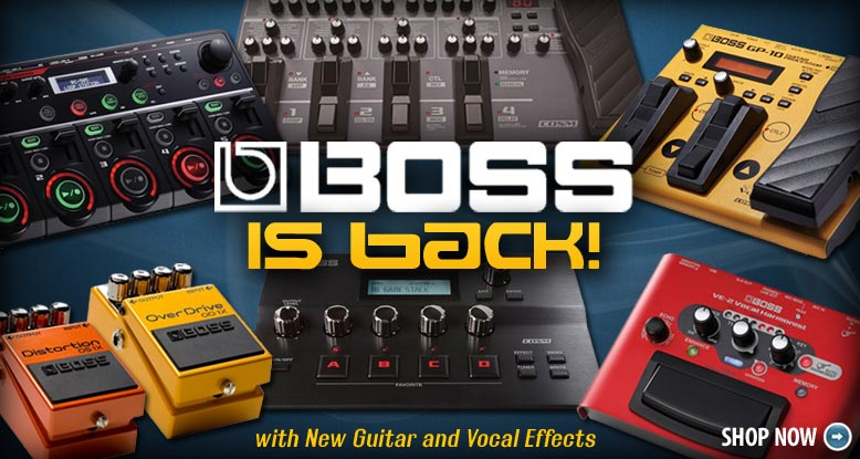 New Boss Guitar and Vocal Effects