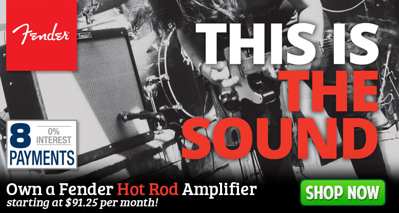 Own a Fender Hot Rod Amplifier for as little as $91.25 per month!