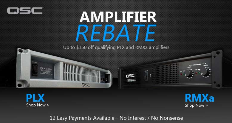 QSC Amplifier Rebate