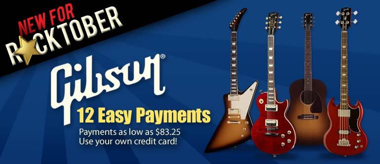 Gibson 12 Easy Payment Plan