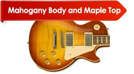 Body Wood Mahogany Body and Maple Top