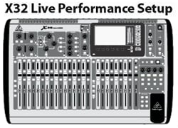 Live with Behringer X32             Click for Larger