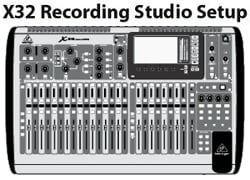 Recording with Behringer X32             Click for Larger
