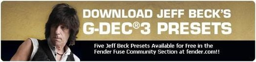 Jeff Beck Presets Available at Fender's Website