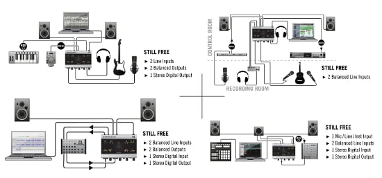 Komplete Audio 6 - Popular Setups