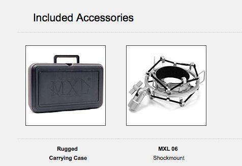 MXL2006 Accessories