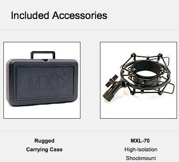 MXL770 Accessories