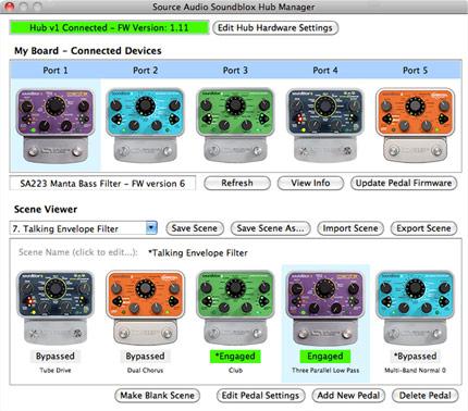 Source Audio Hub Manager Main Screen