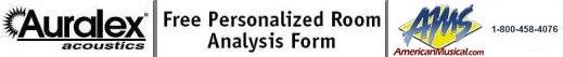 AMS Auralex Analysis Form