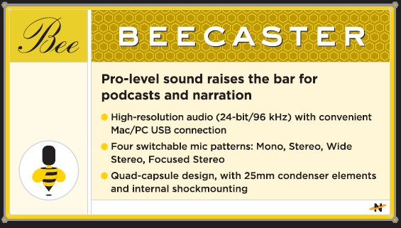 Neat Microphone Beecaster Features