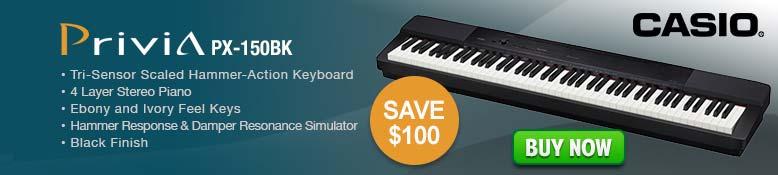 Casio Privia PX-150BK Keyboard