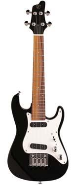 Vorson FSUK-1 S-Style Electric Ukulele Black