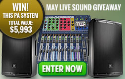 May Live Sound Giveaway
