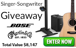 Singer Songwriter Giveaway