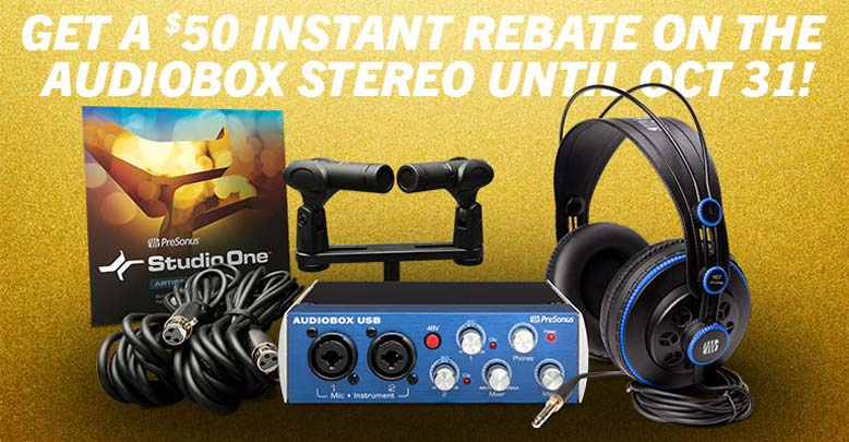 PreSonus AudioBox Stereo Recording Package