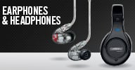 Shure Headphonea and Earphones