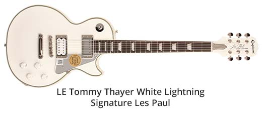 Epiphone LE Tommy Thayer White Lightning Signature Les Paul