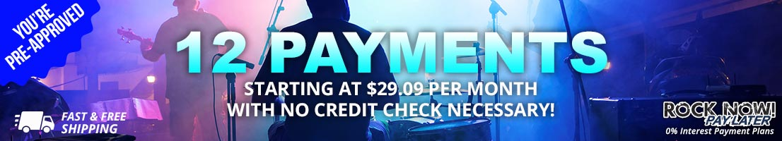 You're pre-approved for 12 payments starting at $29.09 per month!