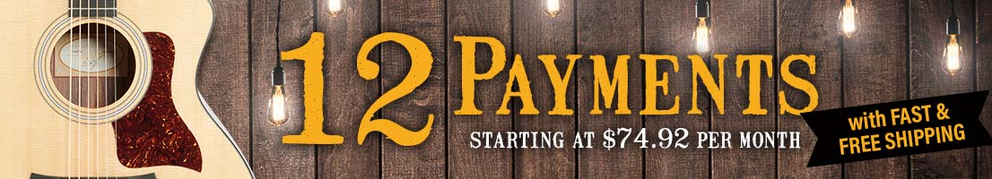 12 Payments with Fast & Free Shipping
