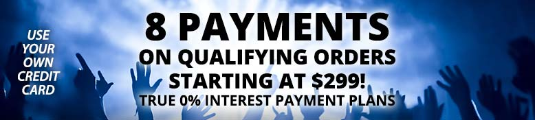 8 payments on qualifying orders starting at $299!