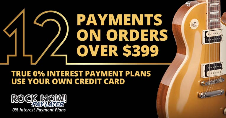 12 Payments on orders over $399