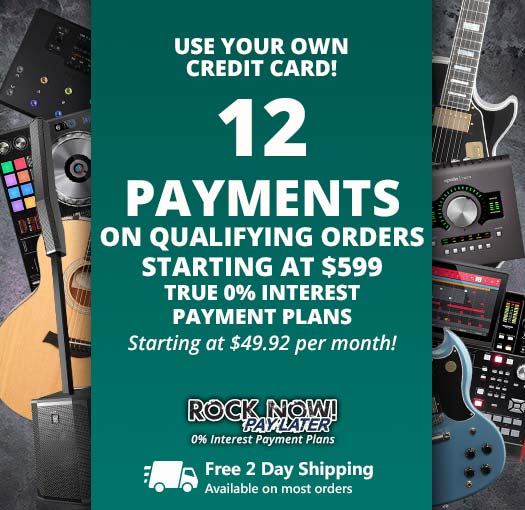 12 Payments on qualifying orders over $599!