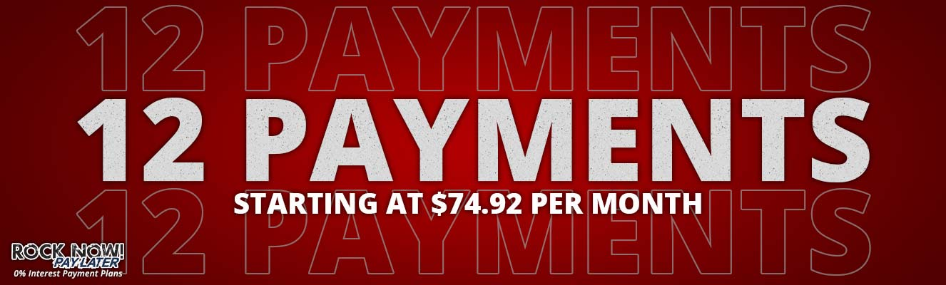 12 Payments starting at $74.92 per month!